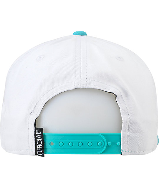 Official The Officials White & Turquoise Snapback Hat