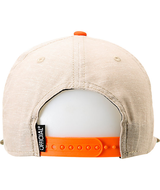 Official Wars & Vacation Beige & Camo Snapback Hat