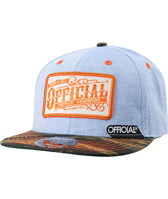 Official Workwear Camo & Orange Snapback Hat