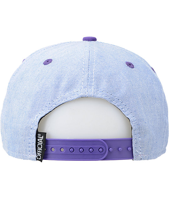 Official Workwear Grey & Purple Snapback