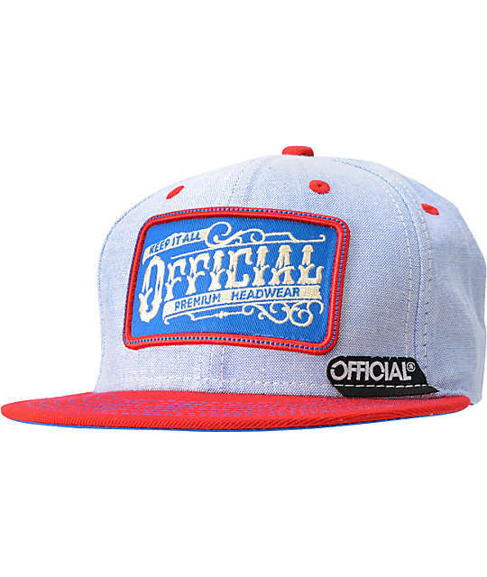 Official Workwear Red Snapback