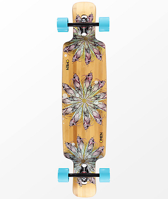 "Omen Cicada Double Drop Through 41"" Longboard Complete"