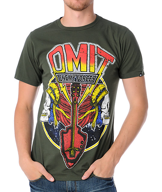 Omit Triumphant Army Green T-Shirt