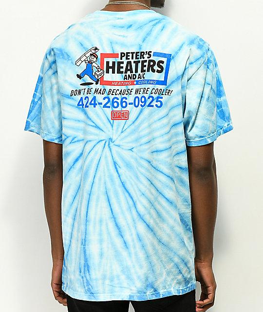 Open925 Peters Heaters Blue Tie Dye T Shirt by Open925
