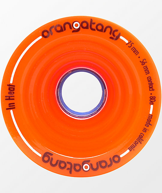Orangatang In Heat 75mm 80a Orange Wheels