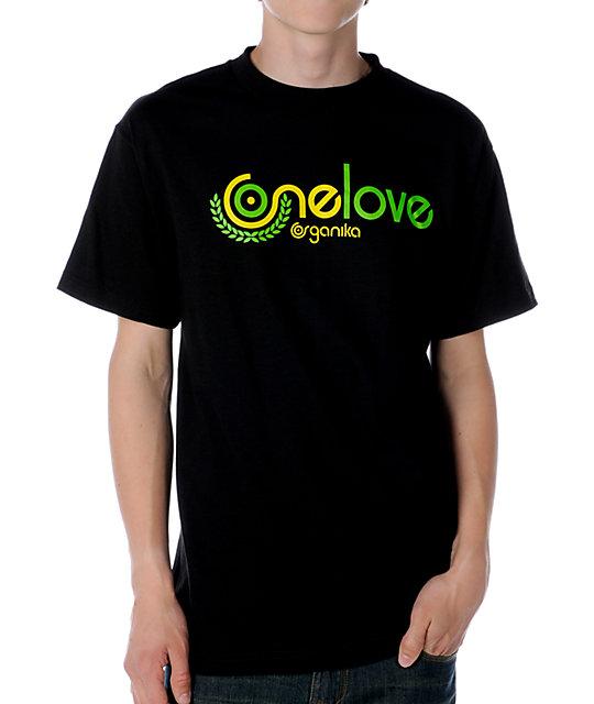 Organika One Love Black T-Shirt