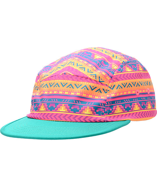Original Chuck Acid Aztek Turquoise 5 Panel Hat