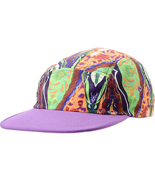Original Chuck Cosby Purple Camper 5 Panel Hat