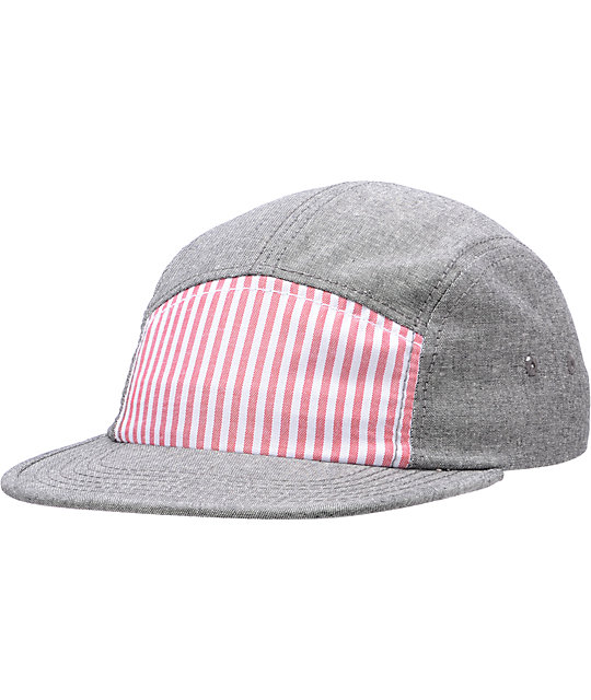 Original Chuck Proper Red & Grey 5 Panel Hat