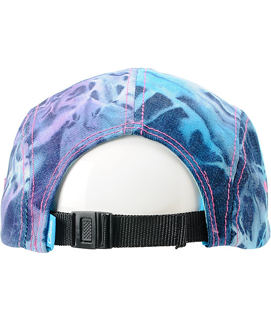 Original Chuck Trippy Blue Printed Camper 5 Panel Hat