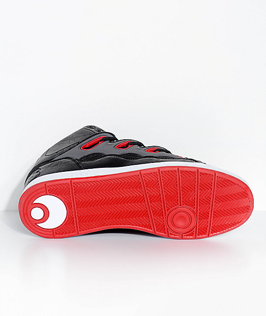 Osiris D3H Black & Red Skate Shoes