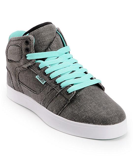 Osiris Effect Black, Mint, & White Skate Shoes