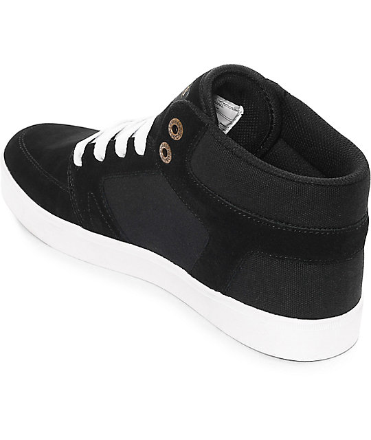 Osiris Helix Black & White Skate Shoes