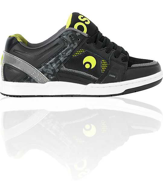 Osiris JOS1 Black & Lime Skate Shoes