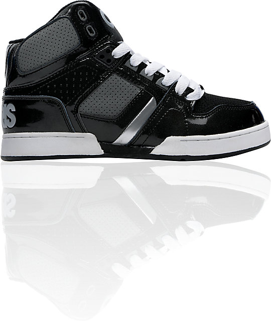 Osiris Kids NYC 83 Black, Charcoal & Silver Skate Shoes