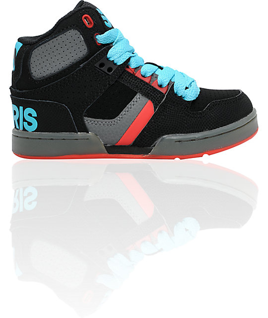 Osiris Kids NYC 83 Black, Grey, Blue & Red Shoes