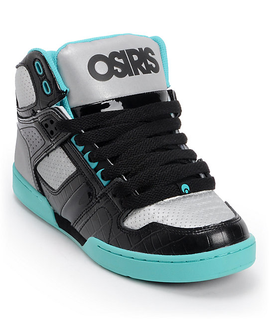 Osiris Kids NYC 83 Black, Gun & Sea Skate Shoes