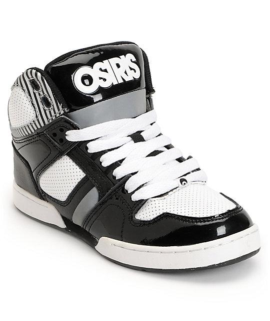 Osiris Kids NYC 83 Black, Silver & White Skate Shoes