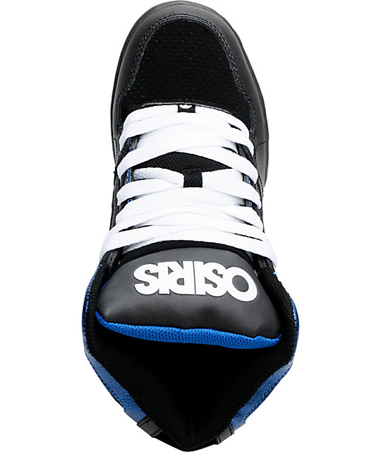 Osiris Kids NYC 83 Black, White & Blue Skate Shoes