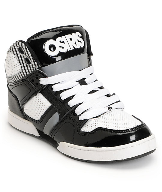 Silver Black And White Osiris Shoes