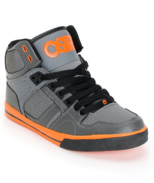 Osiris Kids NYC 83 Grey & Orange Skate Shoes