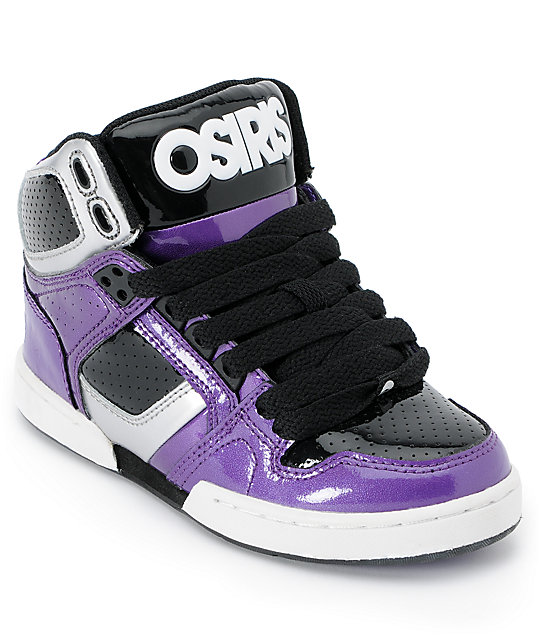 Osiris Kids NYC 83 Purple, Silver & Black Skate Shoes at Zumiez : PDP
