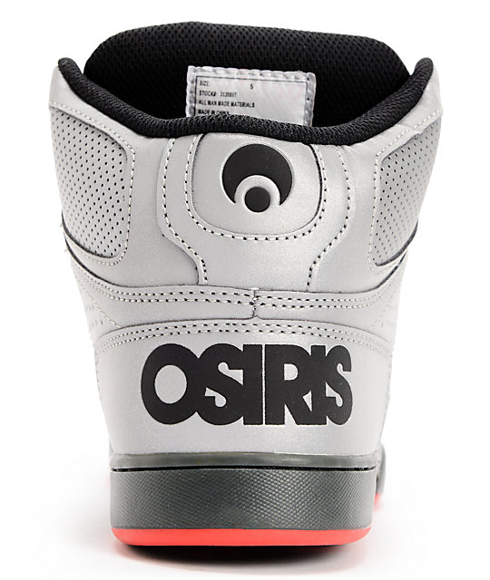 Osiris Kids NYC 83 SE Sliver Flash Reflective Skate Shoes