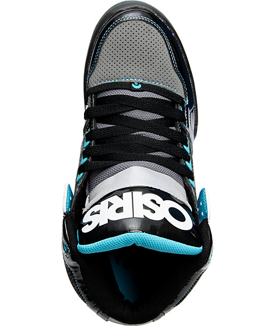 Osiris NYC 83 Black, Charcoal, & Teal Shoes