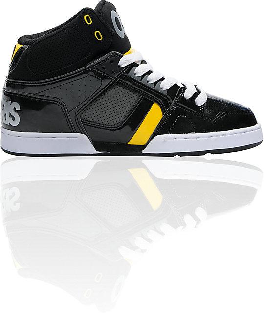 Osiris NYC 83 Black, Charcoal Grey & Yellow Shoes