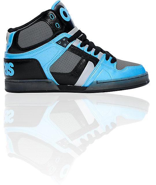 Osiris NYC 83 Black  Cyan  amp  Charcoal ShoeOsiris Shoes For Girls High Tops Blue