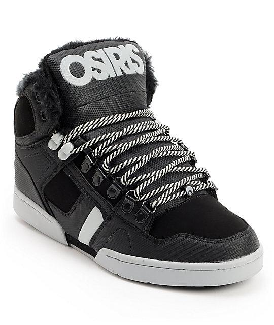 Osiris NYC 83 Black, Grey & Black Sherling Shoes
