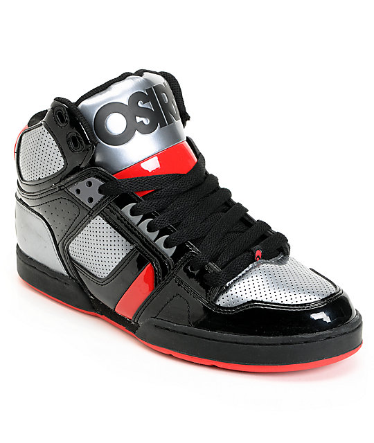Osiris NYC 83 Black, Gunmetal & Red Skate Shoes