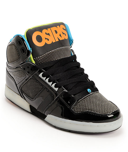 Osiris NYC 83 Black, Lime & Blue Skate Shoes