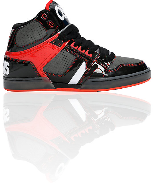 Osiris NYC 83 Black, Red & Charcoal Shoes