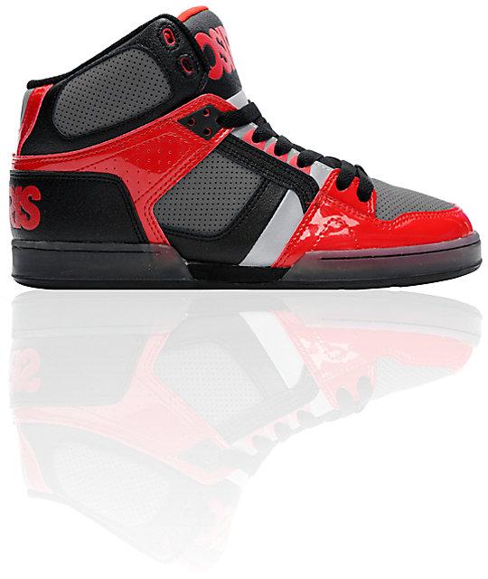 Osiris NYC 83 Black, Red & Chrome Skate Shoes