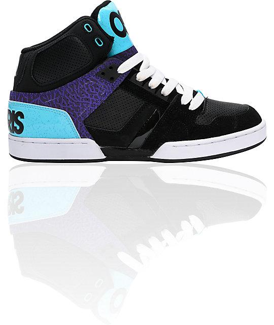 Osiris NYC 83 Black, Teal & Purple Shoes