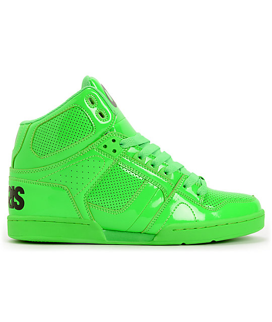 Osiris NYC 83 Green Blacklight Skate Shoes