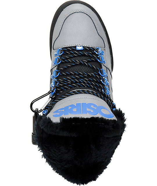 Osiris NYC 83 Grey, Blue & Camp Shearling Shoes