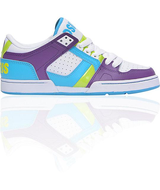 Osiris NYC 83 Low Purple, White & Lime Shoes