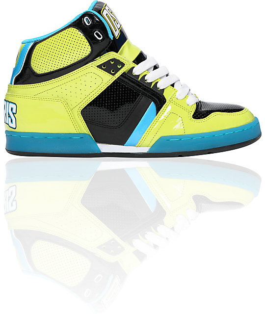 Osiris NYC 83 Nyquist Lime & Black Shoes