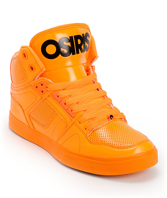 Orange Black Skate Shoes