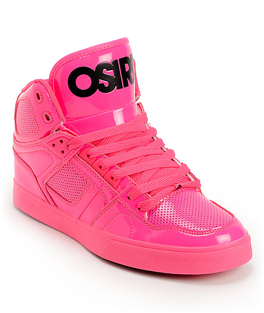 Pink Black Skate Shoes