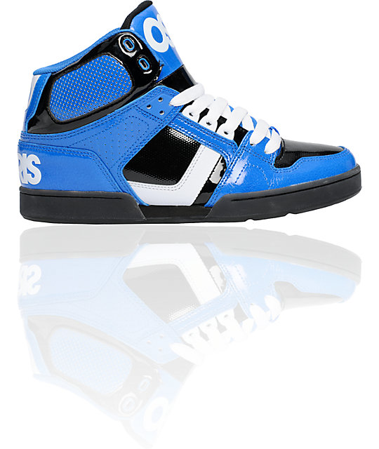 osiris nyc 83 royal blue black white shoes