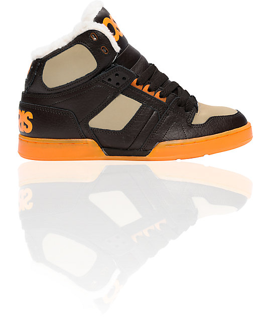 Osiris NYC 83 SHR Brown & Orange Shoes