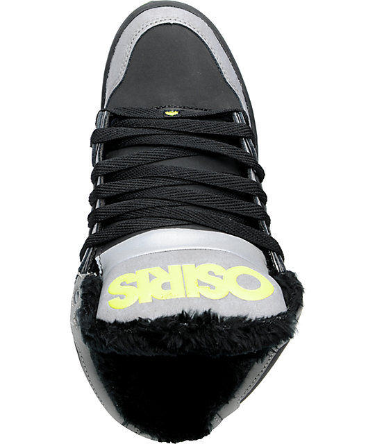 Osiris NYC 83 SHR Grey Black & Lime Skate Shoes