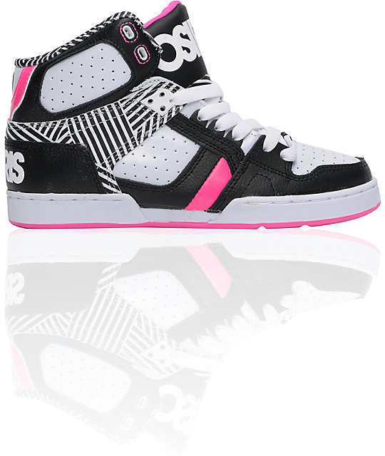Osiris NYC 83 Slim Black & Pink High Top Shoes