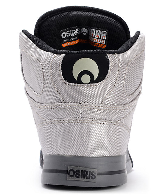 Osiris NYC 83 VLC Ballistic Grey & Black Skate Shoes