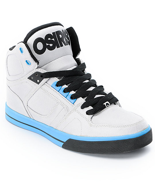 Osiris NYC 83 VLC Ballistic Grey & Cyan Skate Shoes