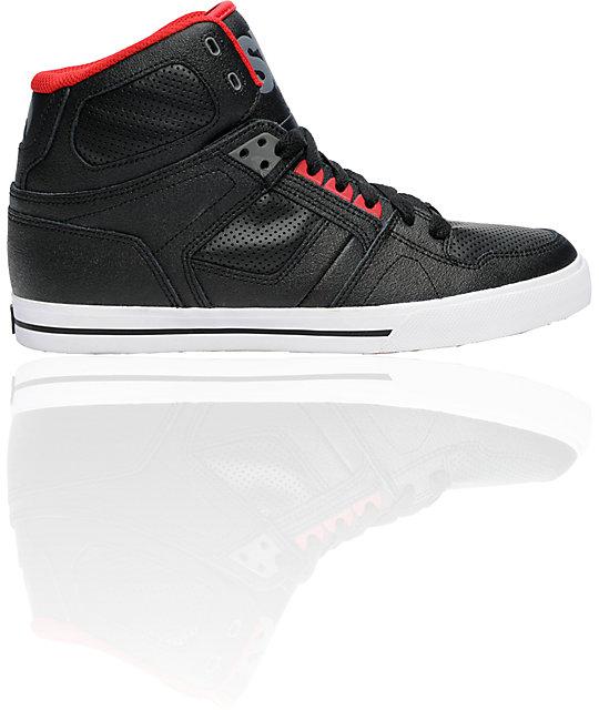 Osiris NYC 83 VLC Black, Charcoal, & Red Shoes