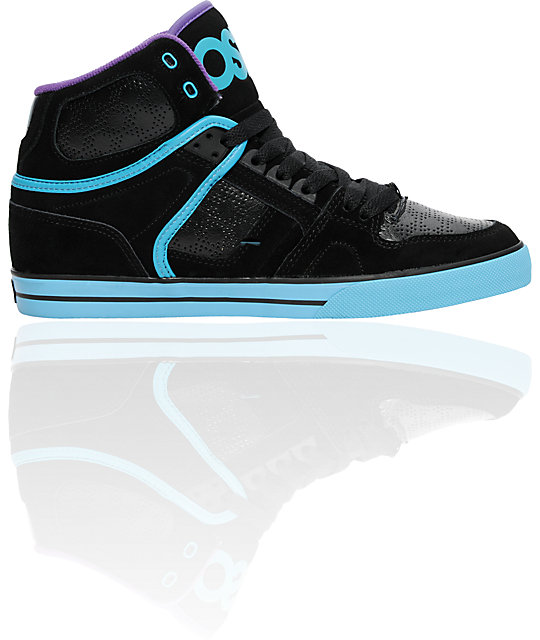 Osiris NYC 83 VLC Black, Teal & Purple Shoes